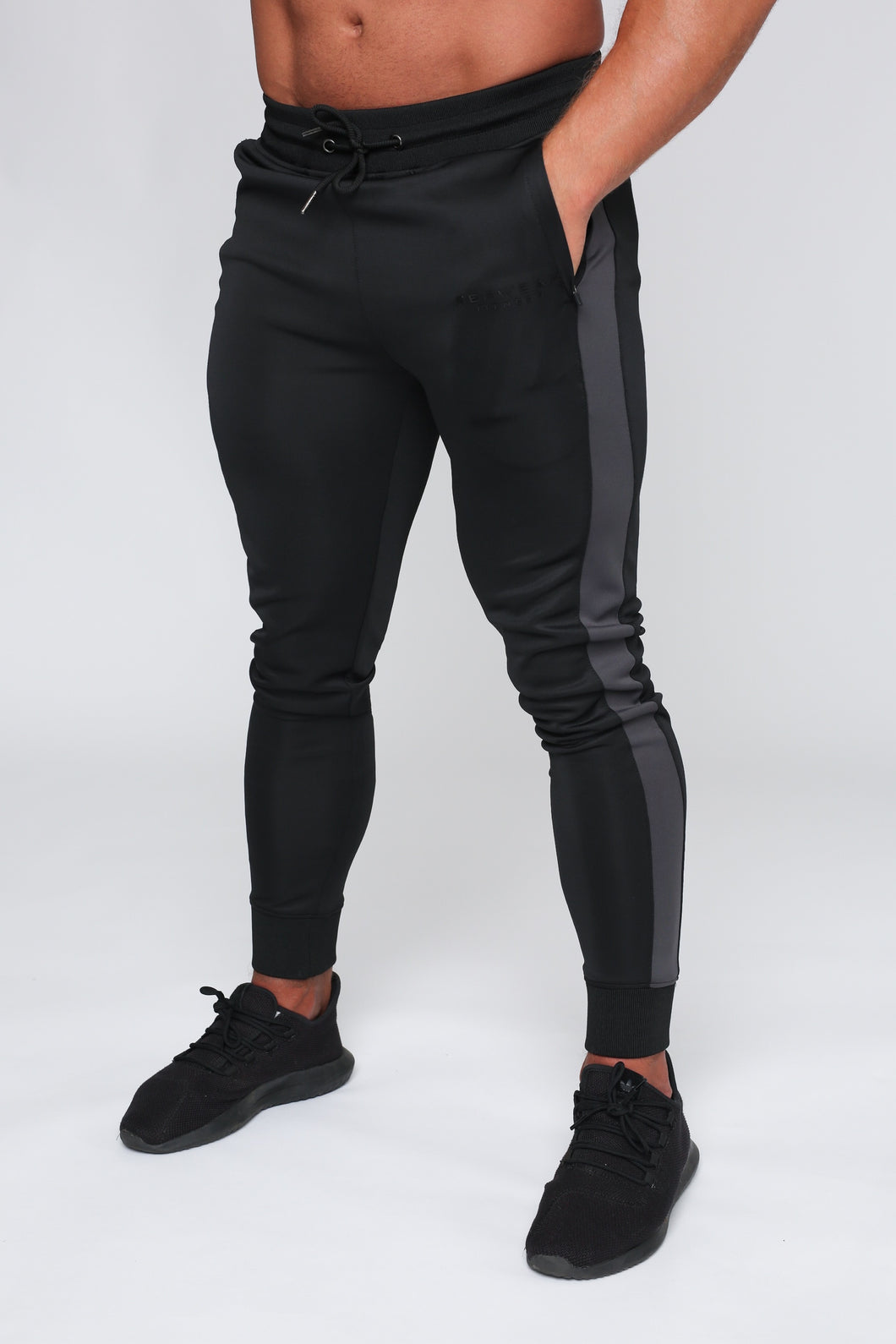Repwear Fitness Original Poly Tracksuit Bottoms Black