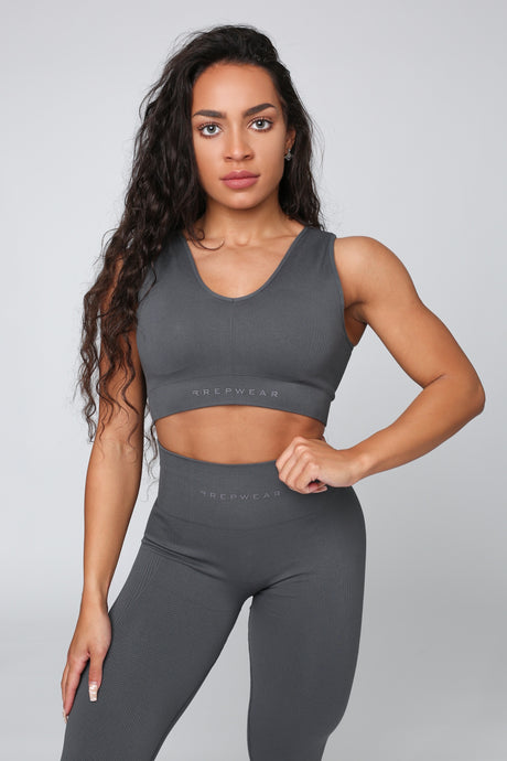 Repwear Fitness ProShape Sports Bra Grey