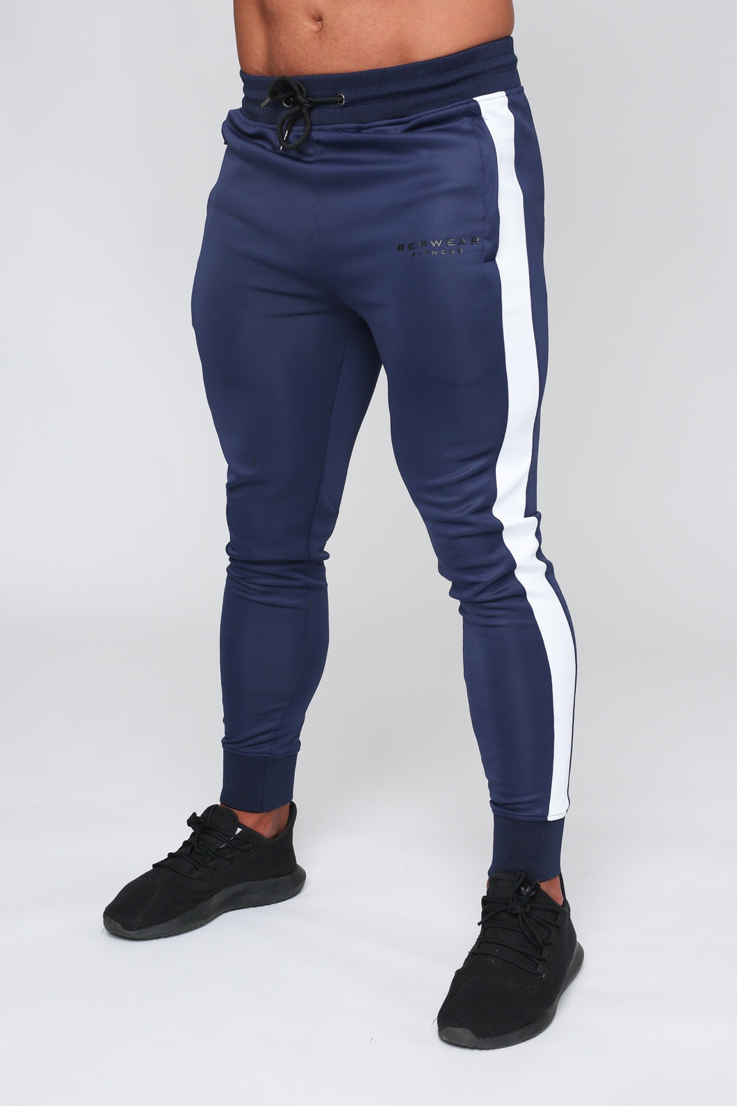 Repwear Fitness Original Poly Tracksuit Bottoms Navy Blue
