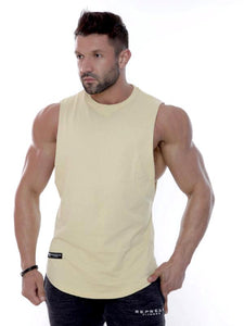Repwear Fitness Mesh-Fushion Sleeveless T-Shirt Sand - Repwear Fitness