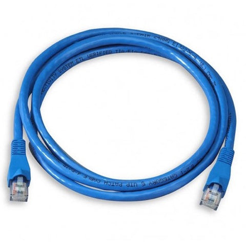 2ft Cat5e Blue Patch Cable for PoE Phone Hub or Switch