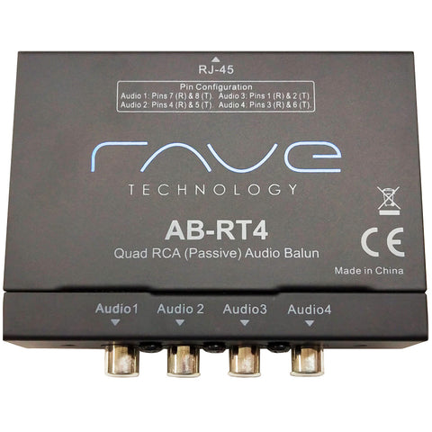 COLONY Rave Quad RCA (passive) Audio Balun | AB-RT4