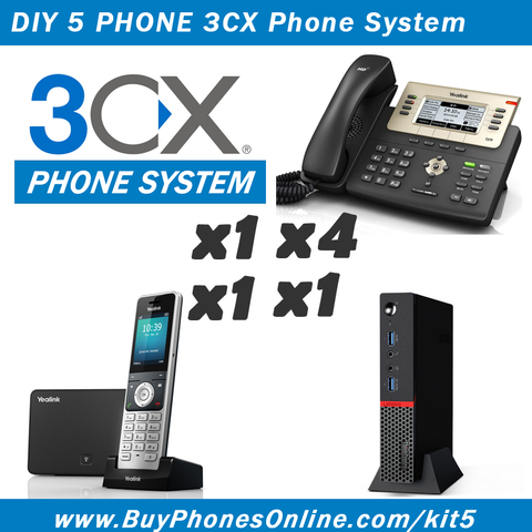 DIY 3CX 5-Phone System Kit