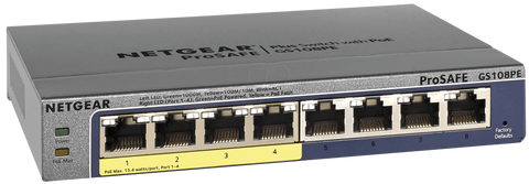 NETGEAR GS108Pe POE 8 port network switch