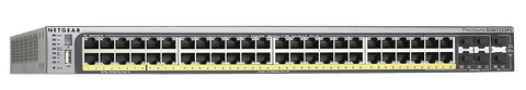52 Port 48 PoE 10/100/1000 Managed Network Switch | Netgear GS752TPSB-100NAS