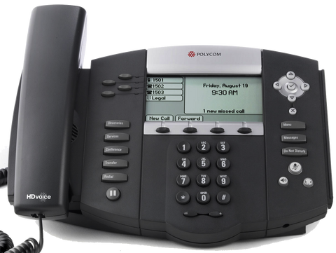Polycom SoundPoint IP 550p Desk Phone Front Image