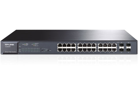 24 Port 24 PoE 10/100/1000 Smart Switch | TP-Link TL-SG2424P
