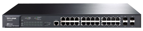 24 Port 24 PoE+ 10/100/1000 Managed Switch | TP-Link TL-SG3424P