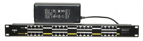16 port Rack Mount Gigabit Passive PoE Injector 48v 120w