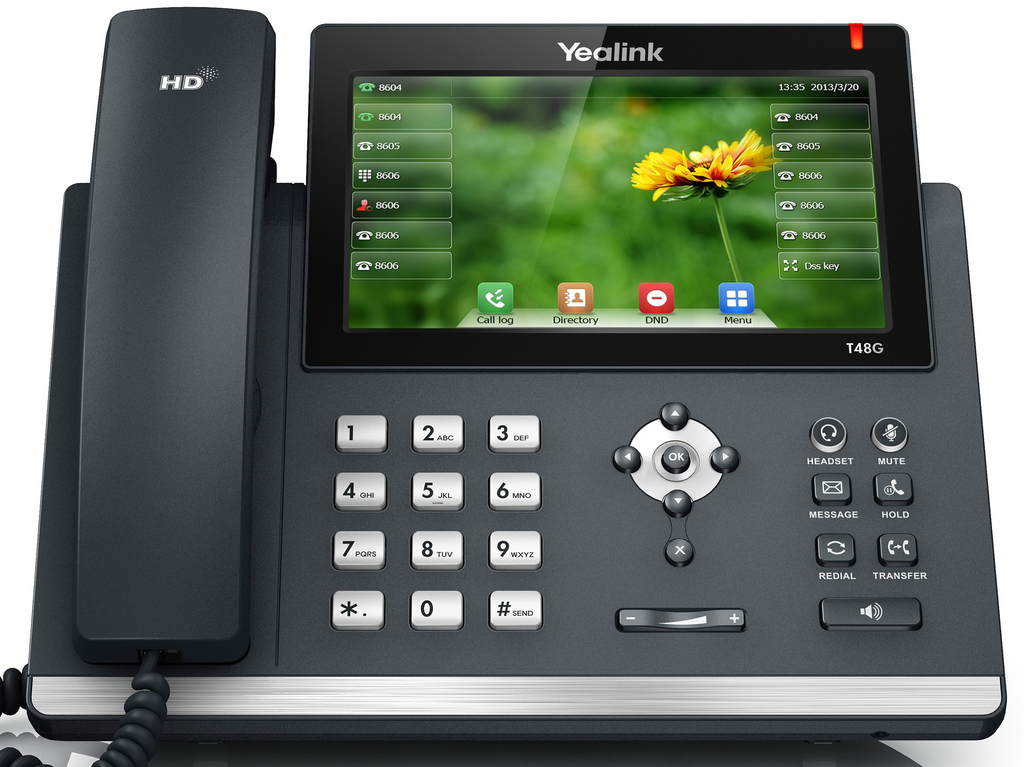 Large Touch Screen >> Yealink T48s Large Touch Screen Desk Phone
