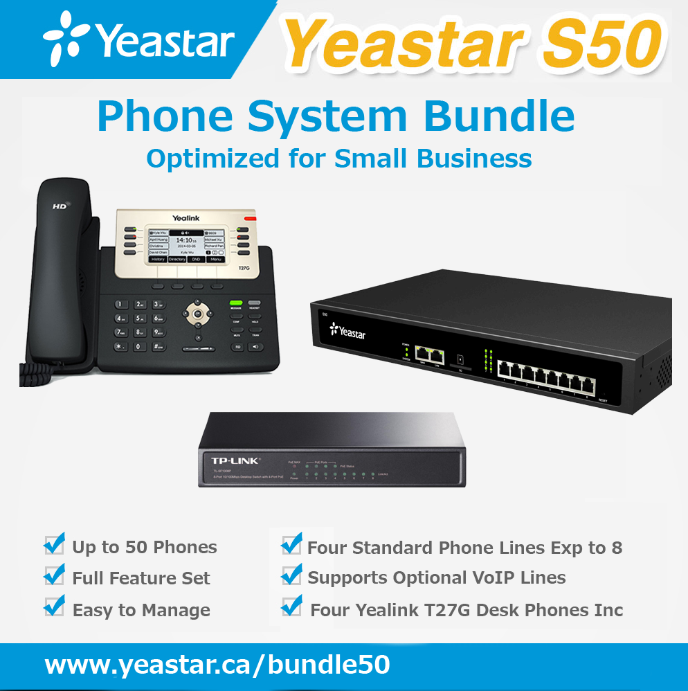 Standard Phone System Bundle for Non-VoIP Phone Lines and up to 50 phones