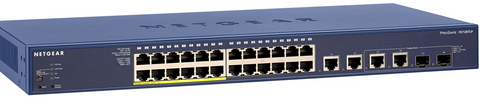 Netgear FS728TLP 24 Port 12 Port POE 10 100 Switch