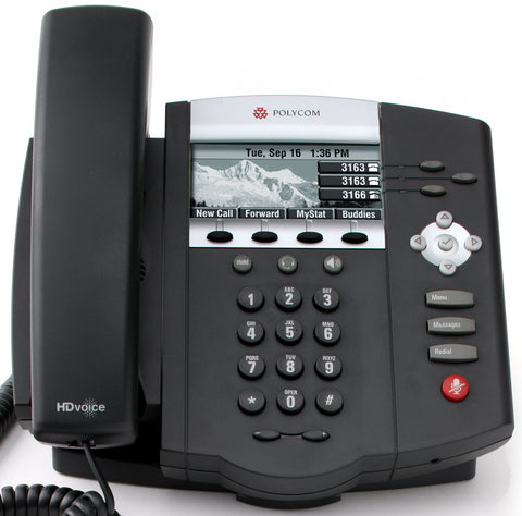 Polycom SoundPoint IP 450p Desk Phone Front View