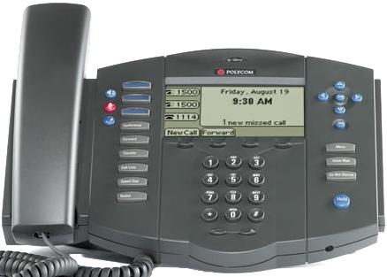 Polycom SoundPoint IP 500 Desk Phone Front View