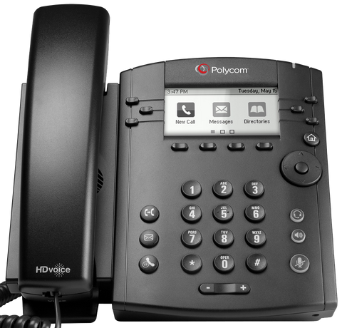 Polycom VVX 310 Desk Phone Front View