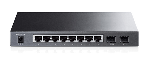 TP-Link TL-SG2210P Powered Smart Switch - Back View
