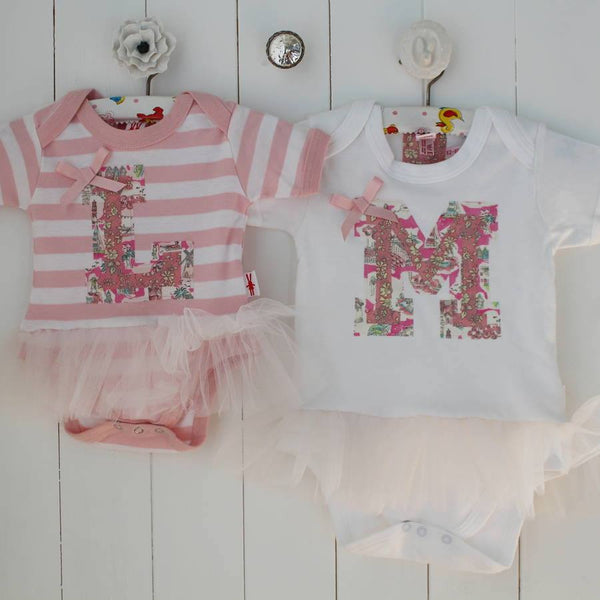 PERSONALISED LETTER BABY GIRL TUTU BODYSUIT - PetitePeople