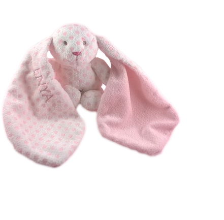 TEDDY BABY BIG EARS WITH NAME RABBIT, TEDDYKOMPANIET, PINK - PetitePeople