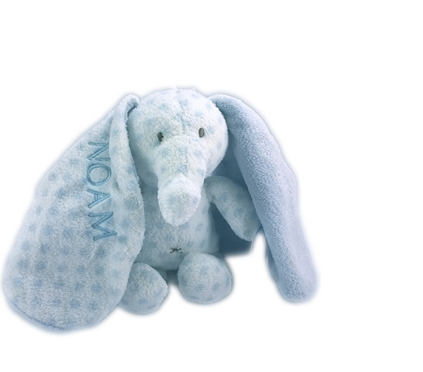 TEDDY BABY BIG EARS WITH NAME ELEPHANT, TEDDYKOMPANIET, LIGHT BLUE - PetitePeople
