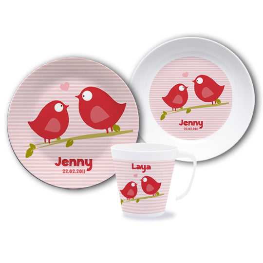 Dish set with the names Piep and Matz - PetitePeople