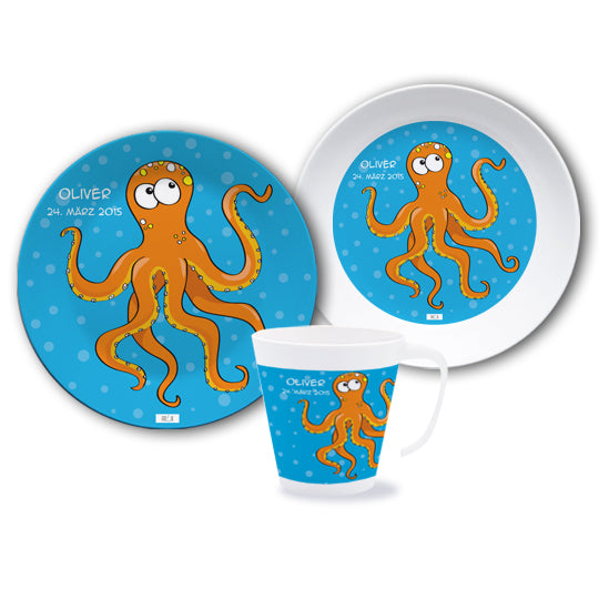 Melamine set for children octopus - PetitePeople