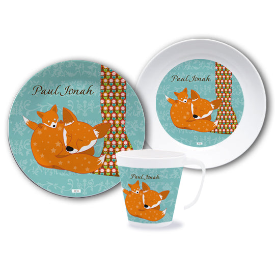 Crockery set with the name Floral Fox - PetitePeople