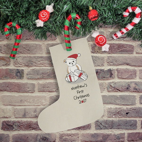 Bear My First Christmas Stocking - PetitePeople