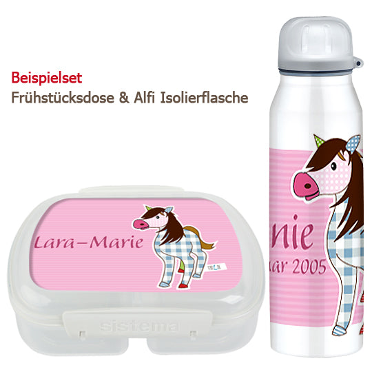 School set can and bottle of horse - PetitePeople