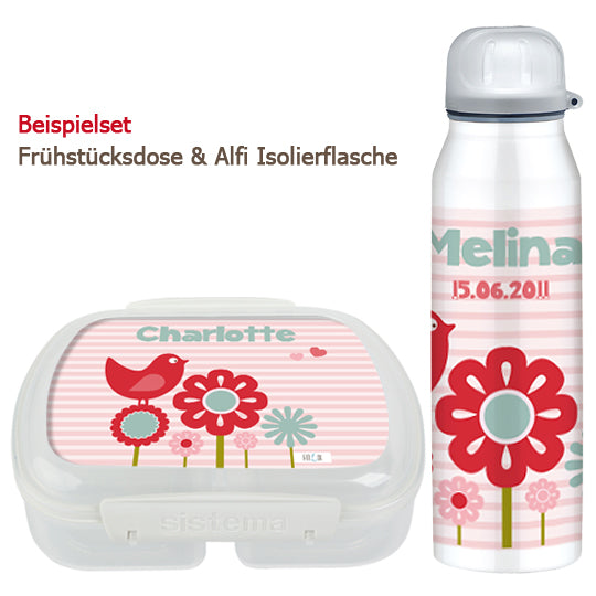 School set can and bottle Piep pink - PetitePeople