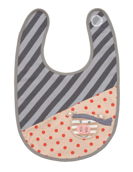 Organic Farm Buddies - Bib 100% Organic The Cool Gris - PetitePeople