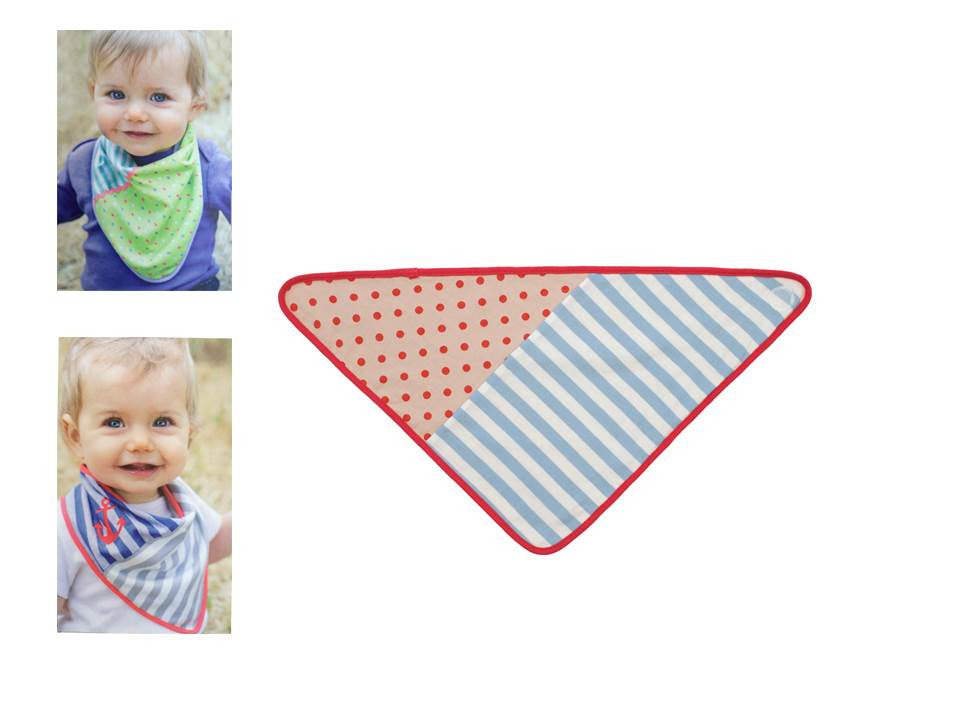 Organic Farm Buddies - bandana 100% Organic Light blue stripes - PetitePeople