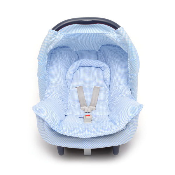 Baby Maxi Cosi Canopy Blue Gingham  Carseat cover - PetitePeople