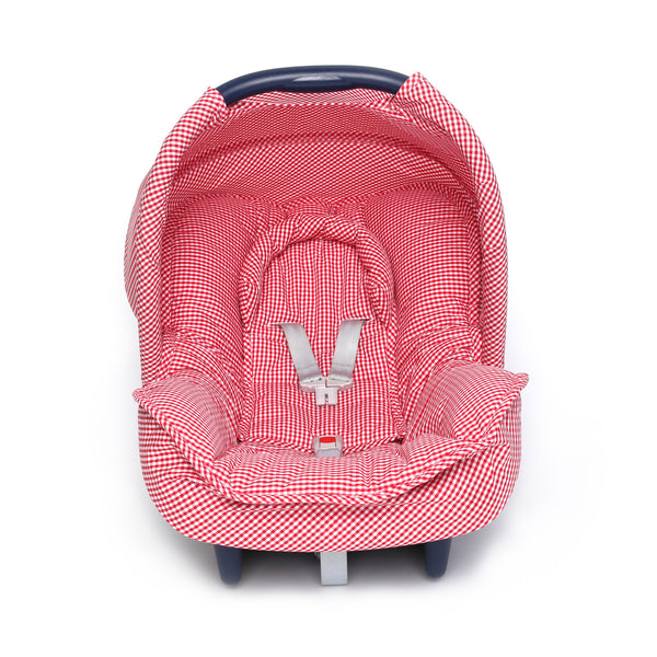 Lovely Baby car seat cover Maxi Cosi Canopy Red Gingham - PetitePeople