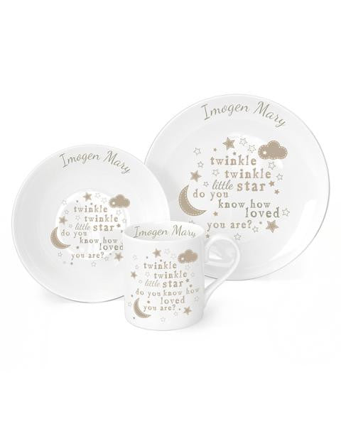 Personalised Breakfast Dinner Plate Mug-Baby Gift-Set