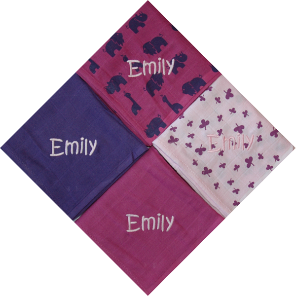 Personalised Baby diapers, swaddle blankets cloth diapers - cherry - PetitePeople