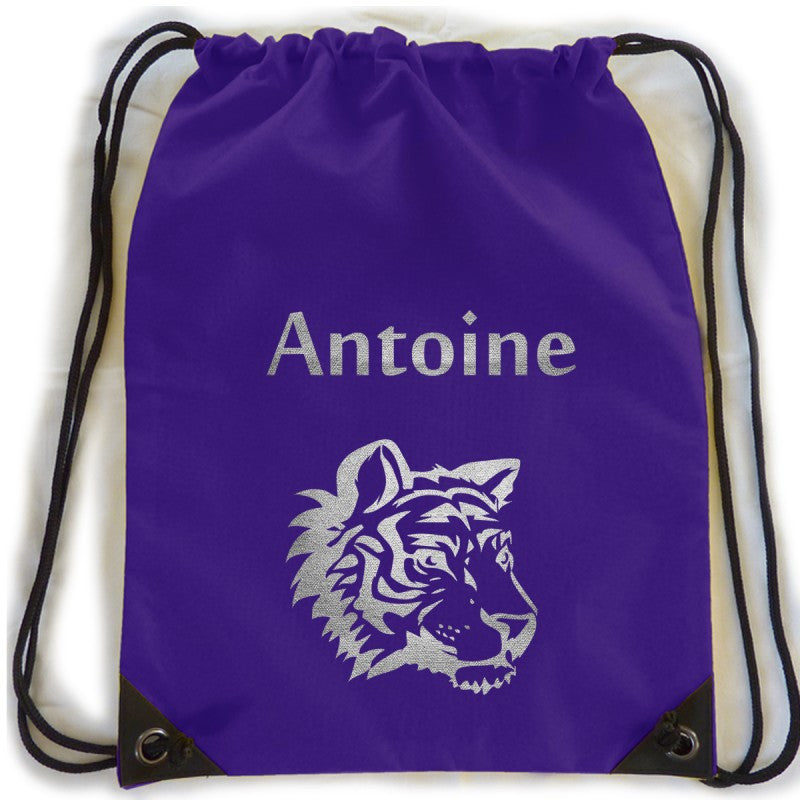 Personalised kit bag - Blue tiger - PetitePeople