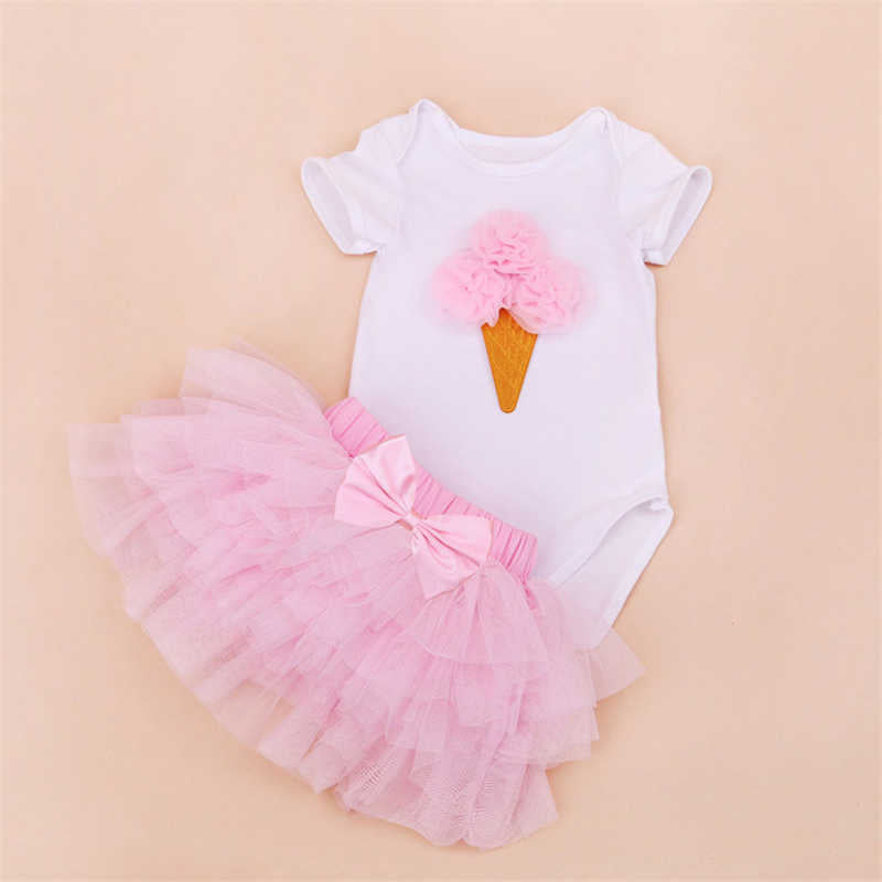 Tutu Baby Birthday Set Summer Short Sleeve Roupas Infantis Bebes 1st Birthday Outfit+Tutu Pettiskirt Dress Party Clothing Sets 1 - PetitePeople, [product_tag]