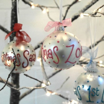 Baby Girl's 1st Christmas Personalised Bauble - PetitePeople