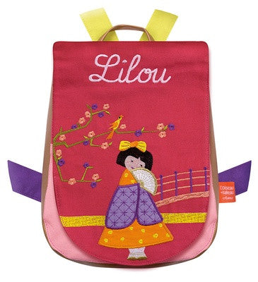 Personalised Children's Backpack Japanese Girl - PetitePeople