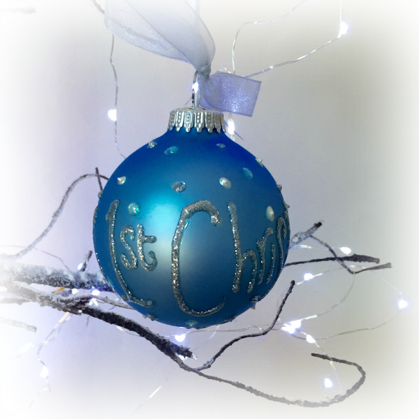 Baby Boy's 1st Christmas Personalised Bauble - PetitePeople