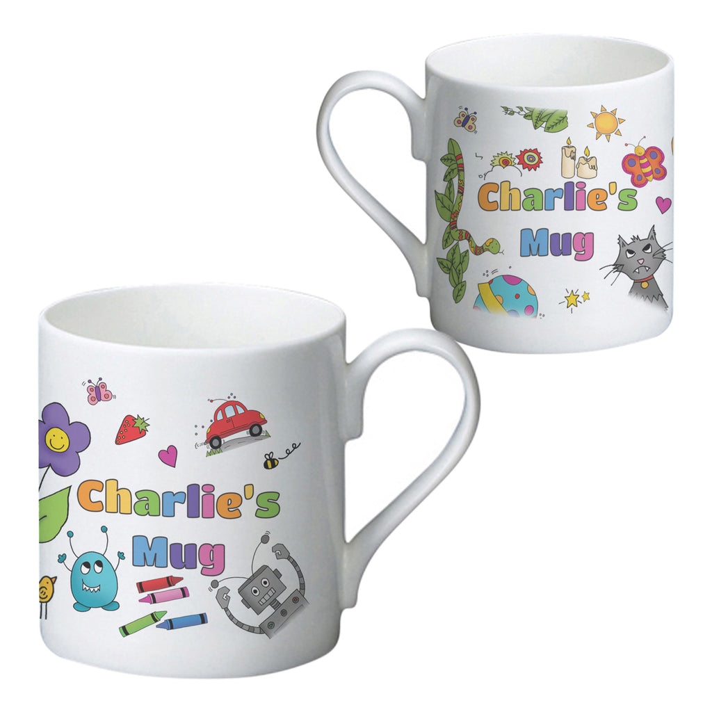 Cartoon Character Childrens Mug - PetitePeople
