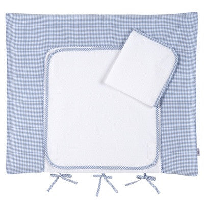Personalized Terry Changing Mat (Light Blue Gingham) - PetitePeople