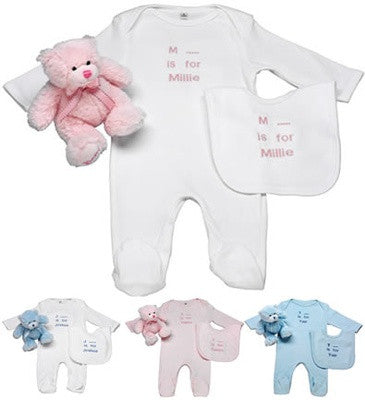 Personalised Babygrow & Bib Set - PetitePeople