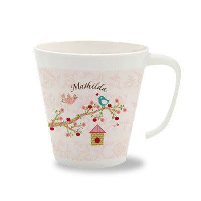 Personalized Cup with Handle Floral Rose - PetitePeople