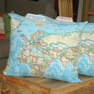 Personalised Giant World Cushion - PetitePeople