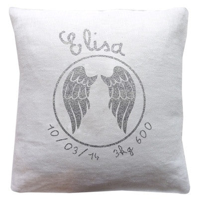 Personalized Linen Cushion White - PetitePeople