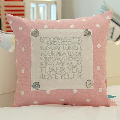 Pink Spot Personalised Text Cushion - PetitePeople