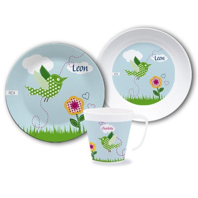 Personalized Dinnerware Set Bird - PetitePeople