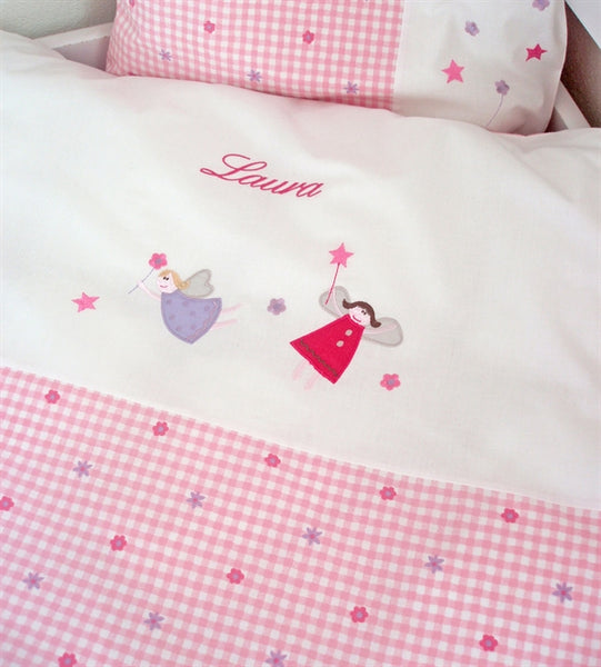 Baby bedding with name, girl, Fairies - PetitePeople