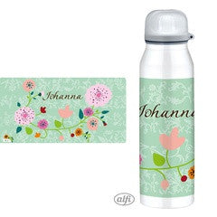 Personalised Alfi Insulated Flask Floral Mint - PetitePeople